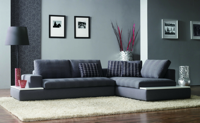 living ideas living room gray corner sofa dekovasen