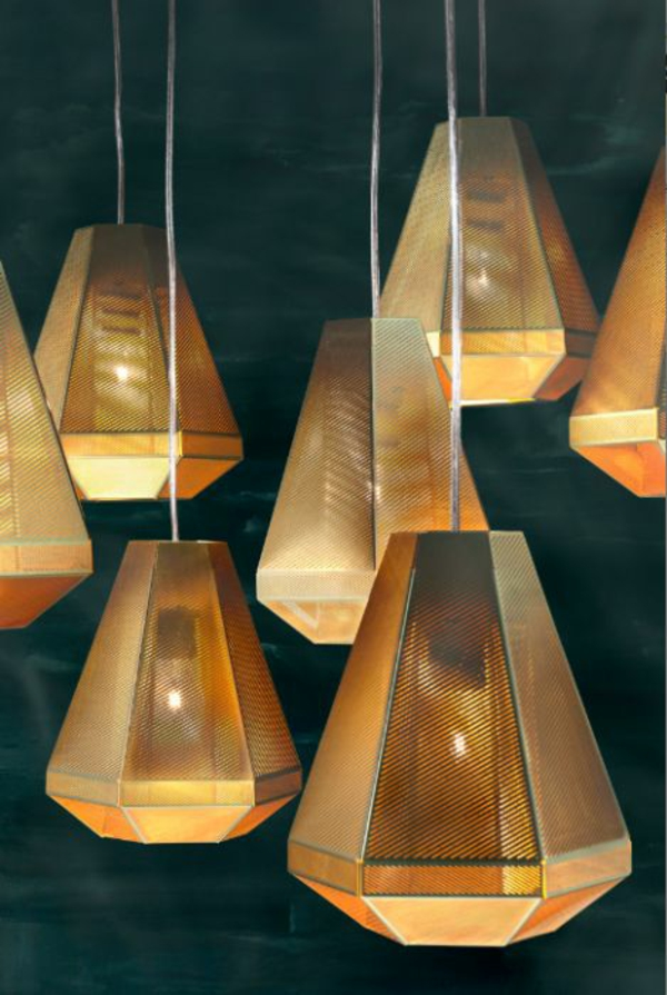 color scheme lighting design lighting living golden lampshade