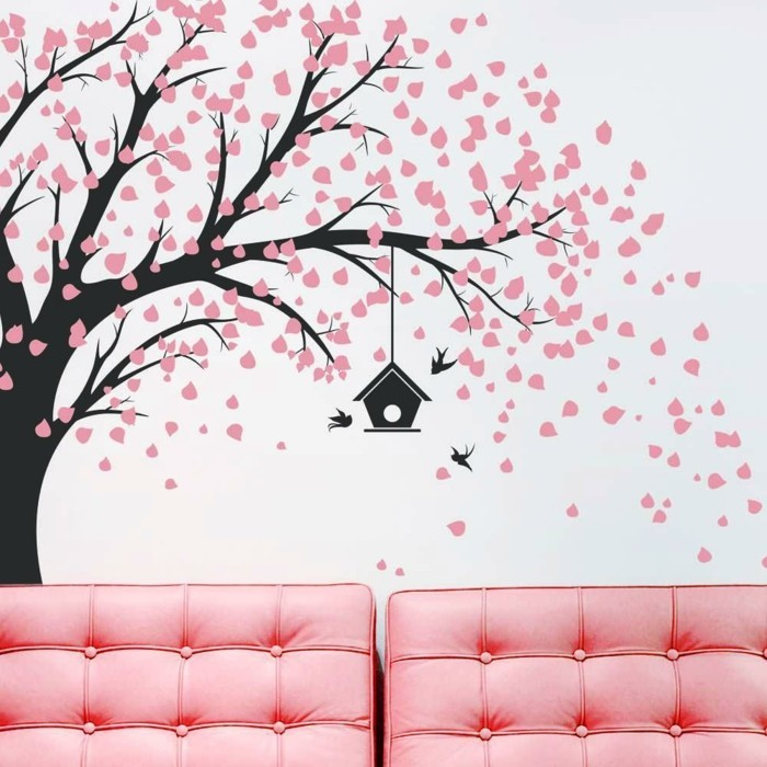 wall decals tree deco ideas wall design living room