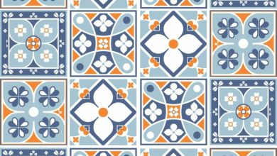 Photo of Traditional Portuguese tiles in the modern interior