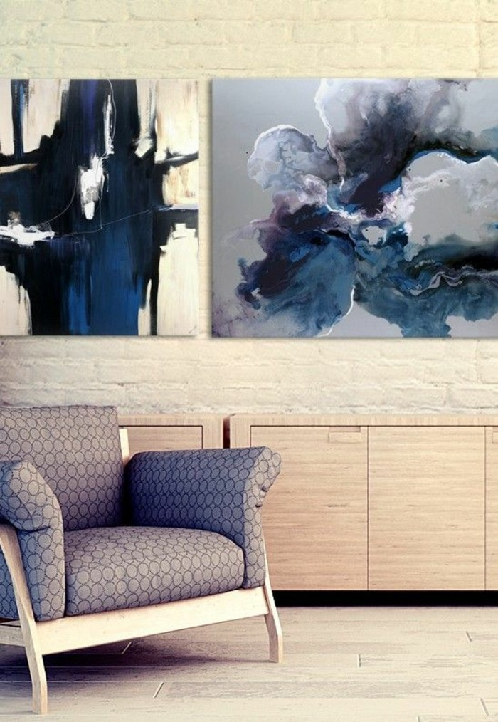 Abstract art as a wall decoration