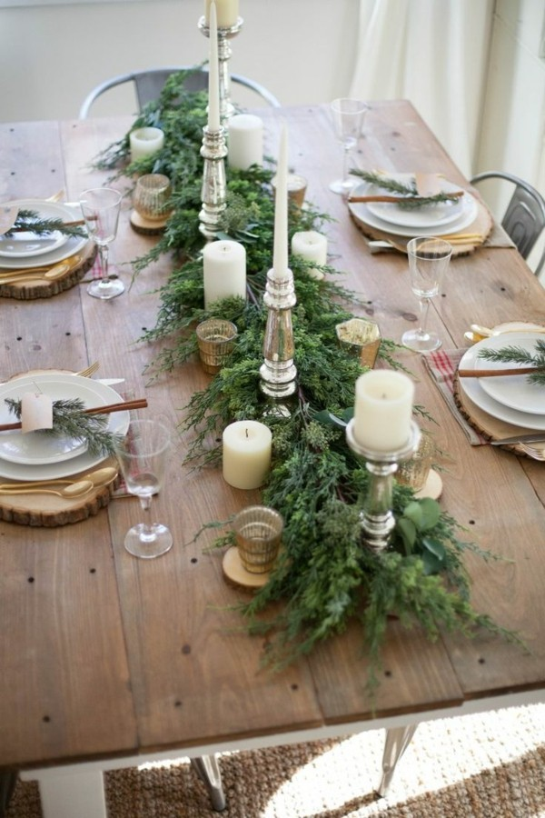 Rustic table decoration for Christmas