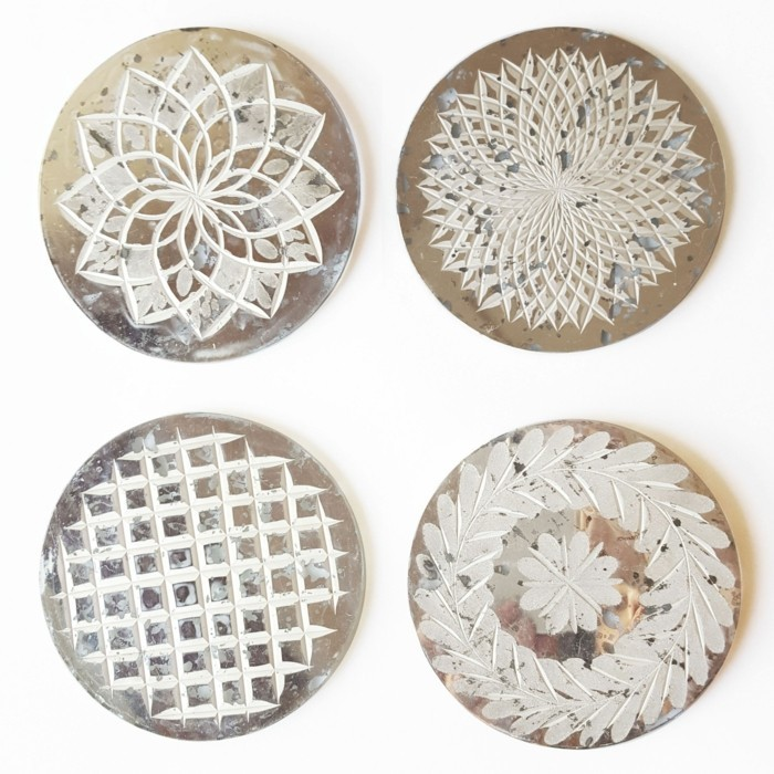 coasters white and beige