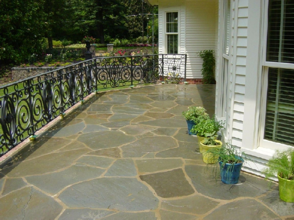 terrace lay natural stone terrace floor terrace pallets tile frost-proof