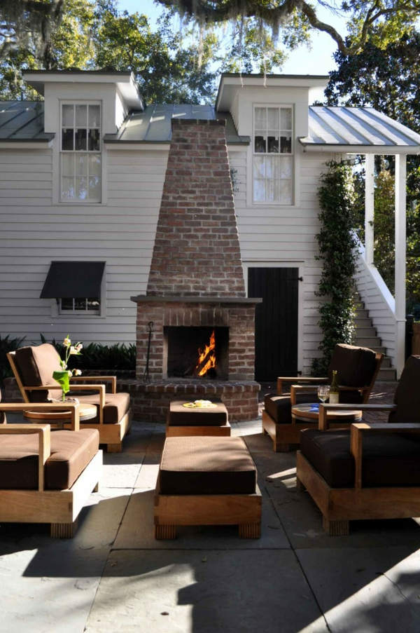 terrace shape fireplace plant outdoor furniture
