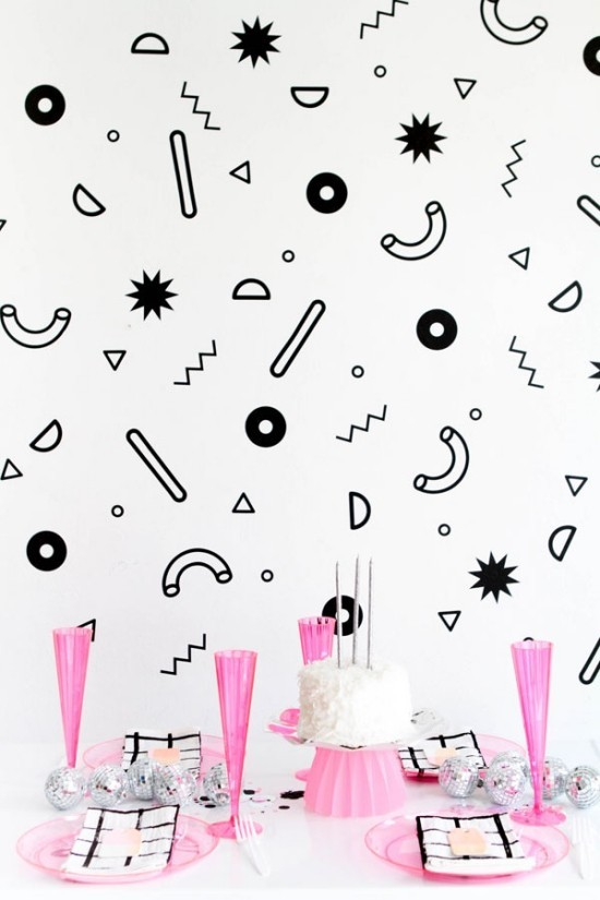 wall decoration ideas party funny wall stickers