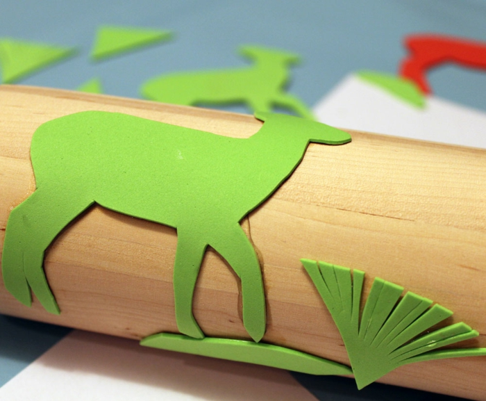 make stamp yourself rolling pin Christmas paper crafting preparation