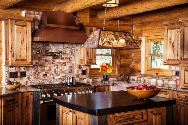 rustic kitchen wall tiles wood
