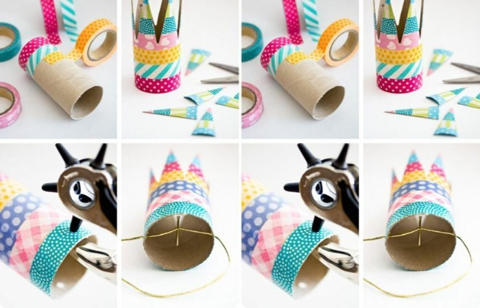tinker with toilet paper rolls diy ideas decorating ideas tinker with kids party deko2