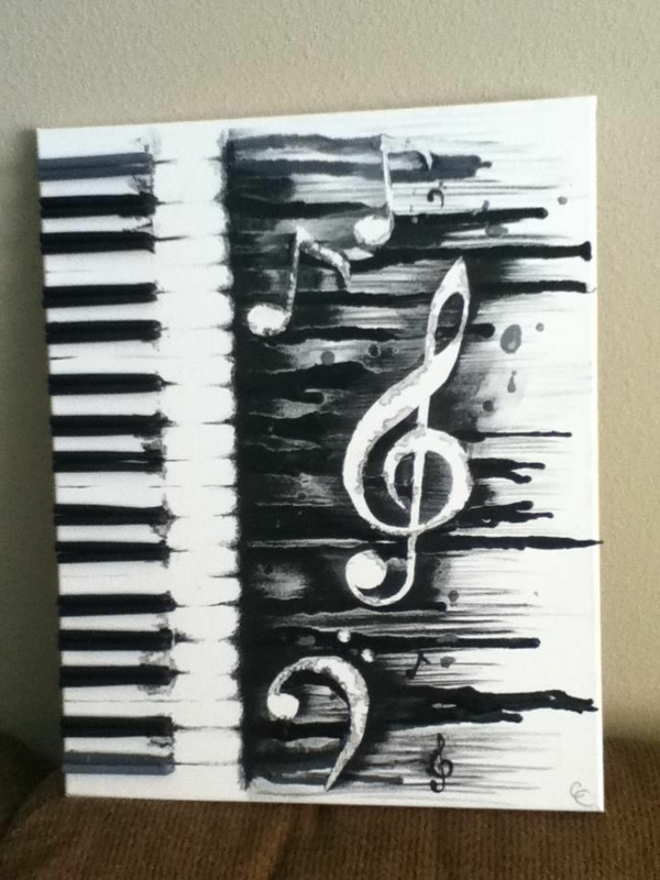 diy modern canvas pictures musical piano