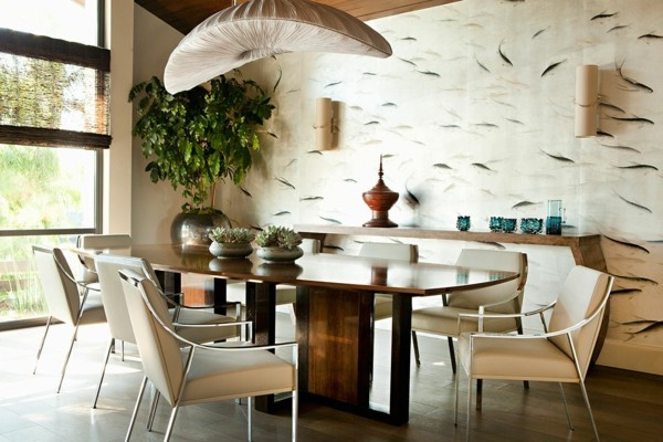 wallpaper pattern for the dining room with fish