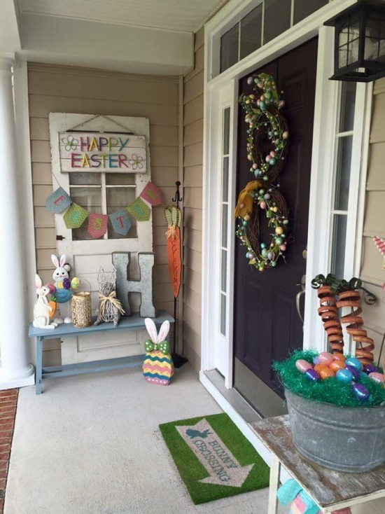 Entrance easter decoration for outside