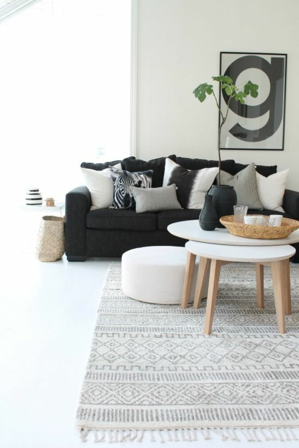 interior design ideas black sofa