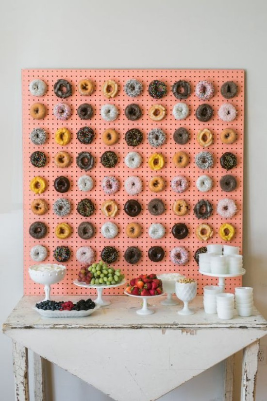 wall decoration ideas party donut board