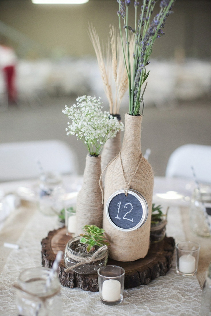 deco bottles wedding table decoration ideas