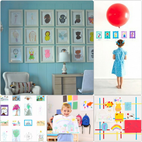 DIY decoration with children's drawings diy projects for parents
