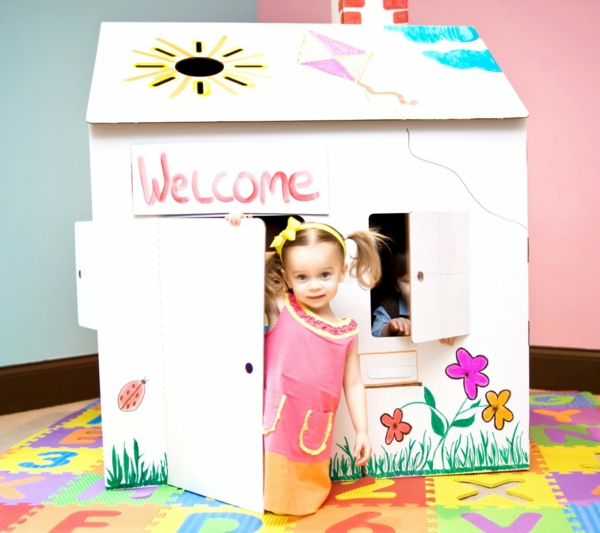 cardboard house ikea nursery decor play house