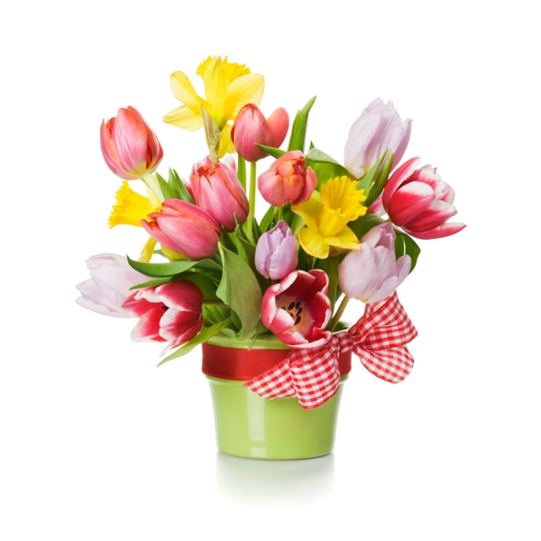 spring flowers decor ideas colored bouquet