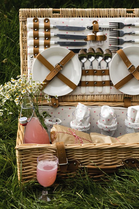 Knife and plate and fork picnic ideas