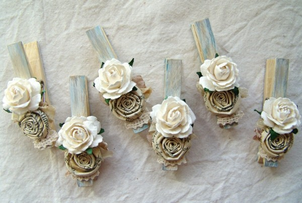 clothescloth fabric roses make shabby chic decoration yourself