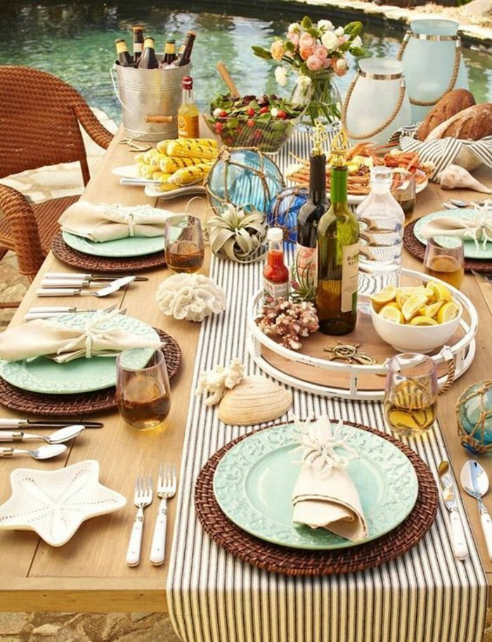 craft ideas table decoration table deco summer