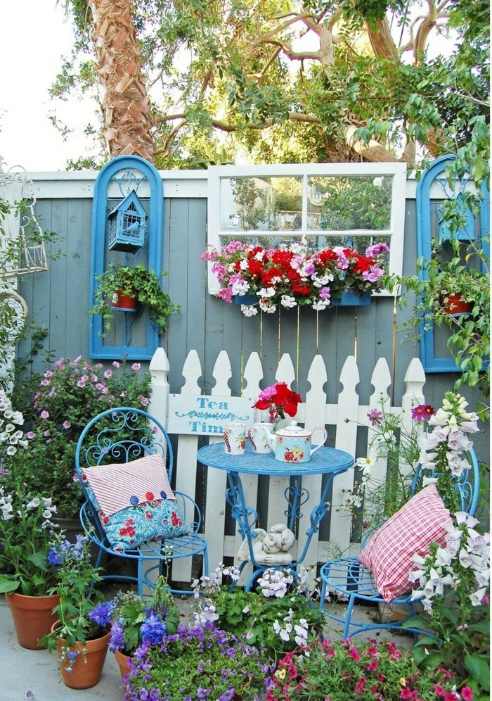 fancy garden decor itself make beautiful decoration for the garden fence