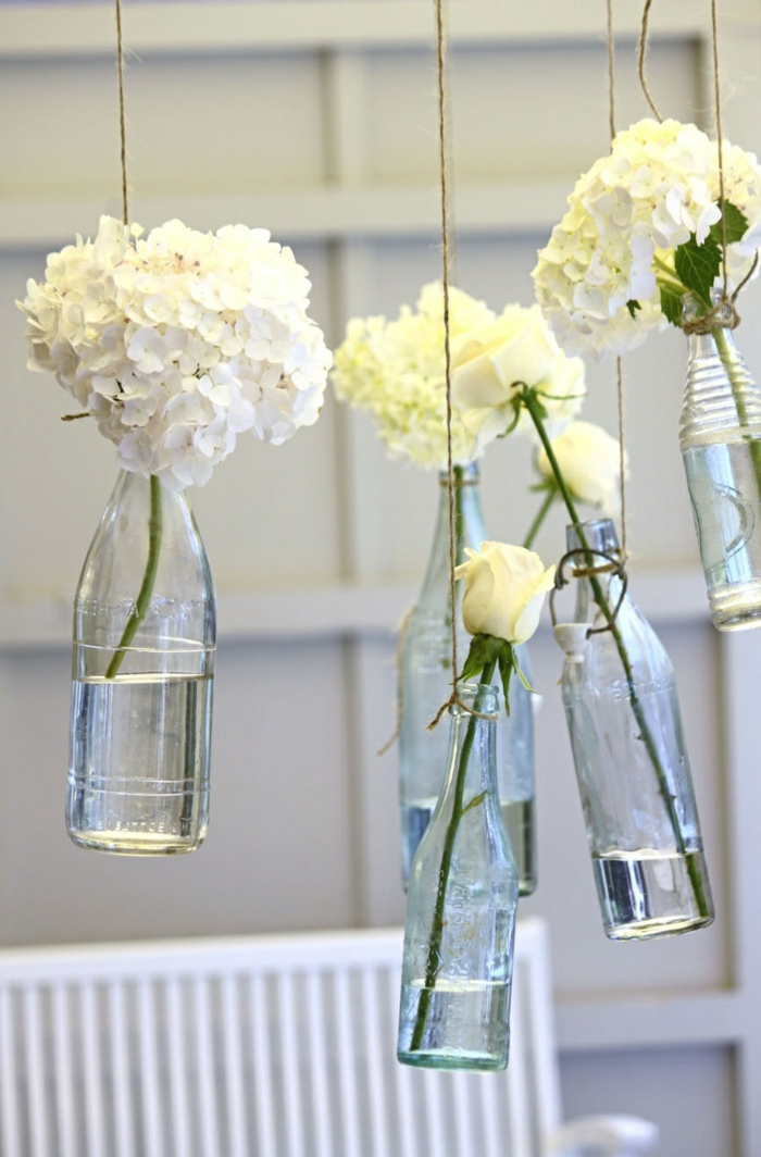 creative home decorating ideas flowers bottles