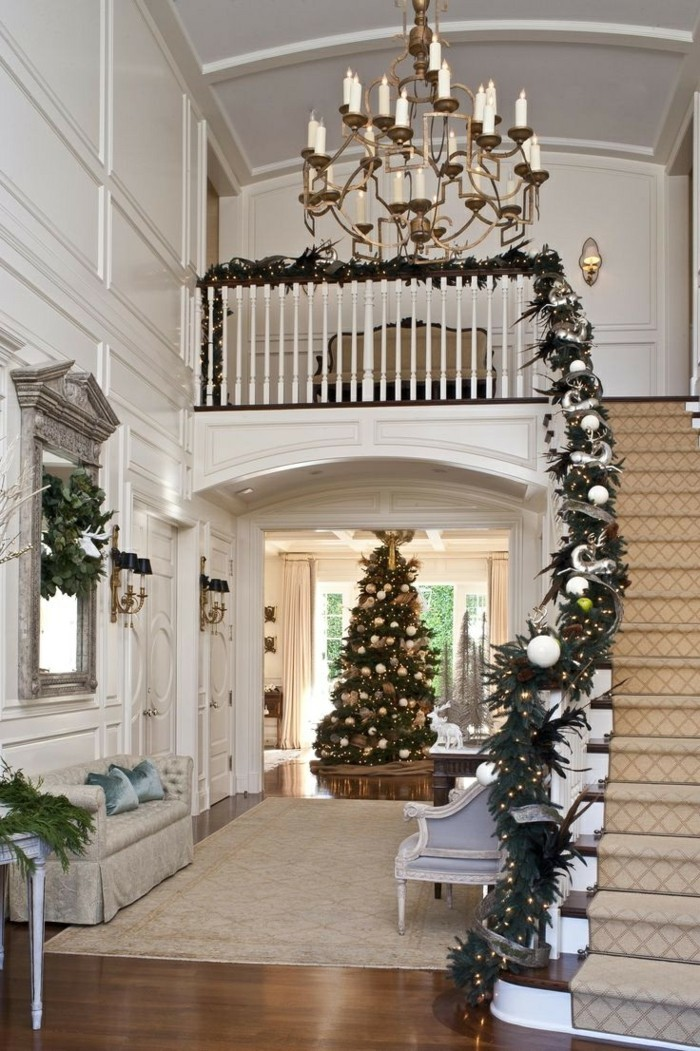 decorating ideas decorate christmas staircase