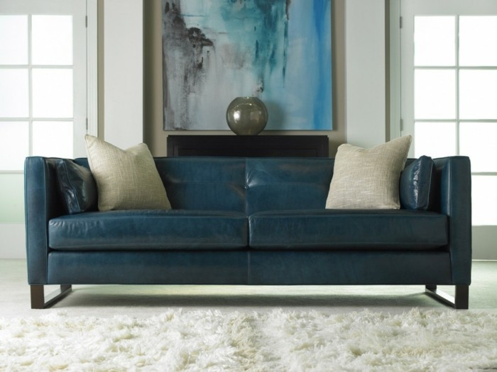 Brown leather sofa in scene 15