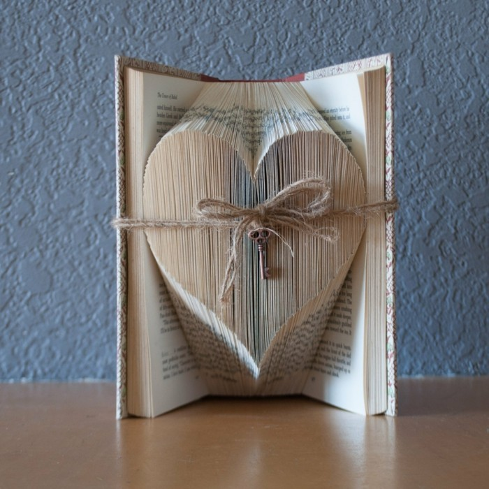 diy ideas books book pages fold