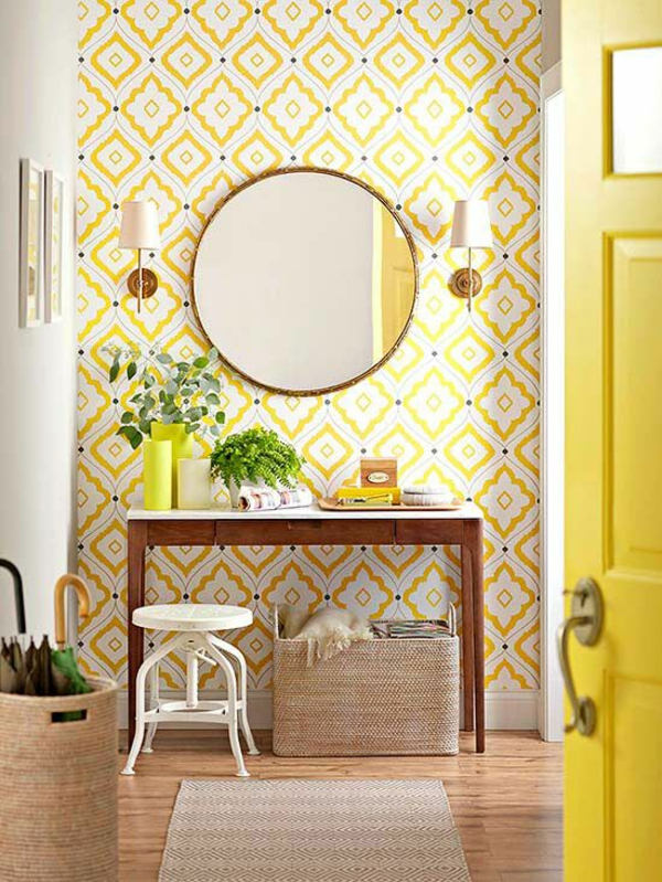 wallpaper with yellow patterns