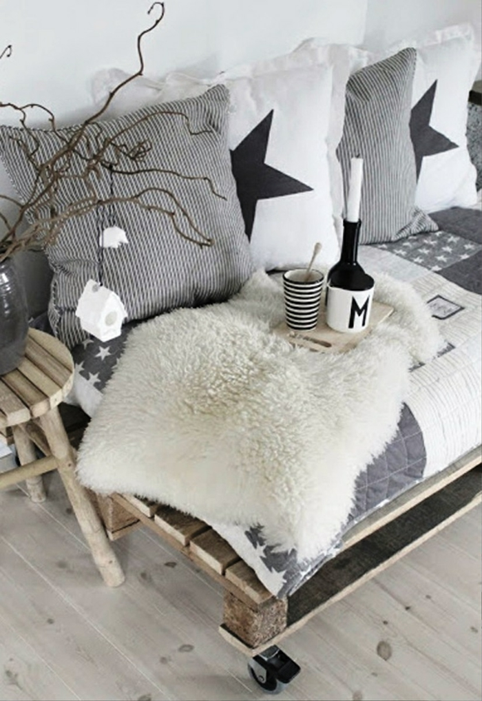 Christmas ornaments pallet furniture cover side table sofa
