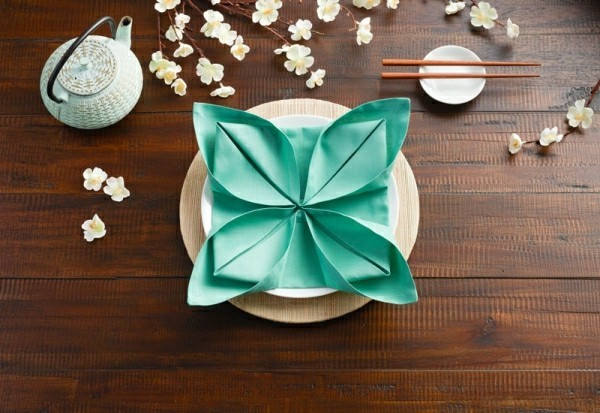 napkins folding technique romantic occasions