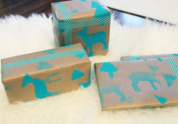 make your own stamp rolling pin christmas paper craft gift wrapping paper