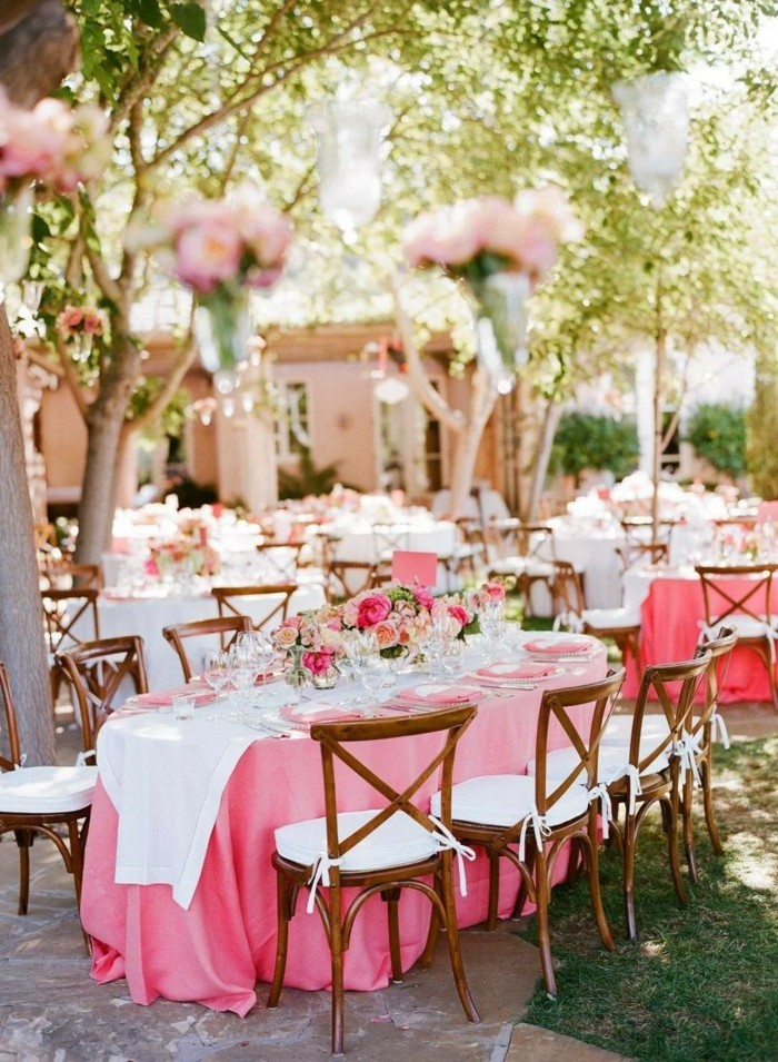Wedding decoration in pink elegant