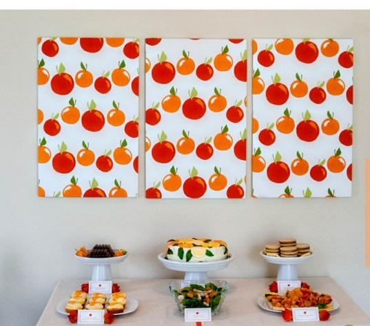 Create your own canvas pictures diy fruit fresh
