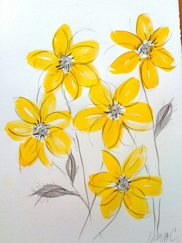 spring flowers pictures flowers paint mural