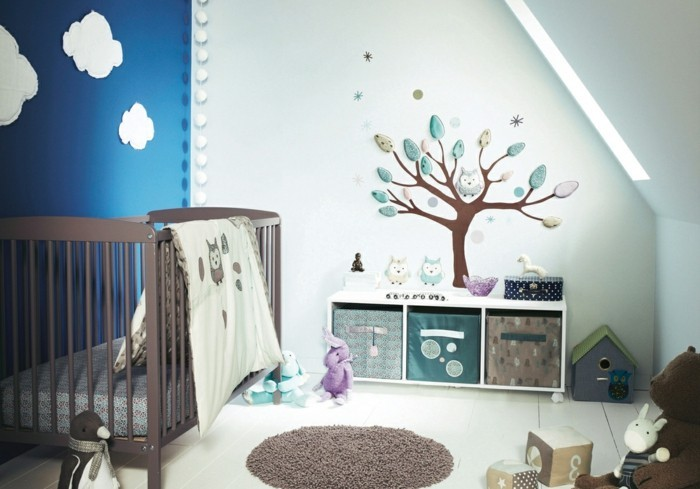 beautiful wall decals deco ideas nursery tree wall decal blue wall