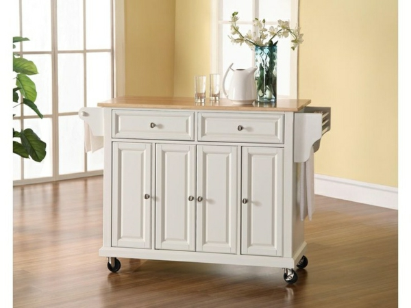 Portable great kitchen islands white glass