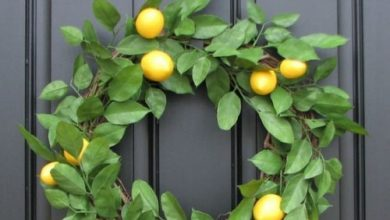 Photo of Beautiful door wreaths for a happy mood at the house entrance