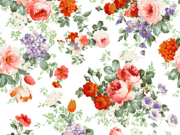 floral elements wallpaper walls