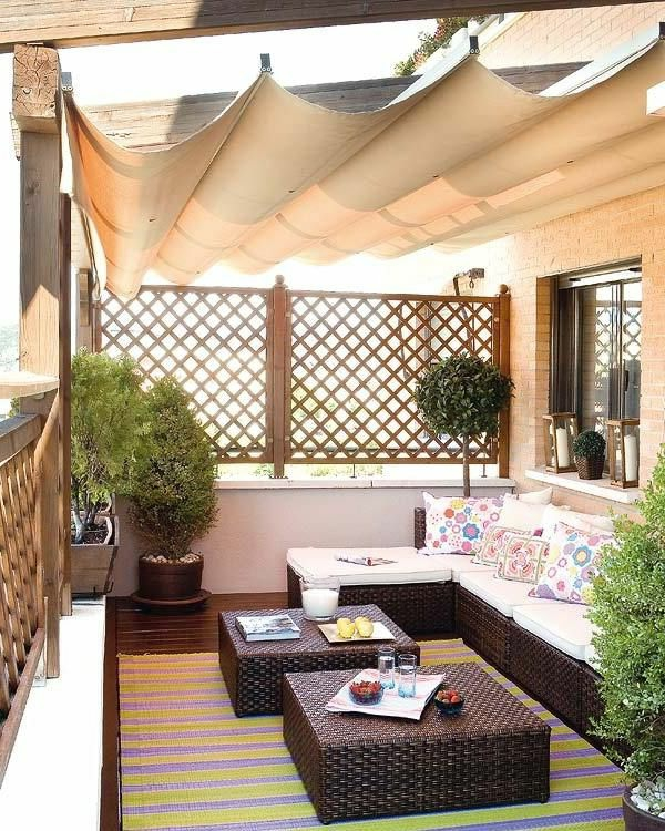 patio roofing wood fabric combination