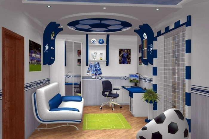 Nursery Decor Football Design Interior Ideas 3D Chelsea