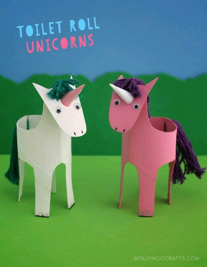 tinkering with paper towels diy ideas decorating ideas with kids unicorn