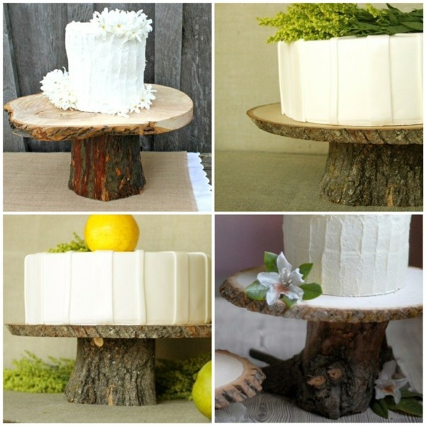 Wooden trunks cake stand made by yourself