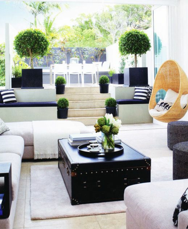 decorating living room with plants
