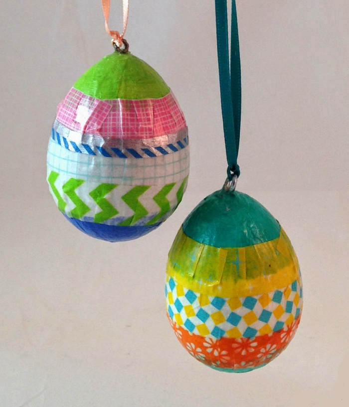 easter decoration easter eggs tinker colored hang deco ideas