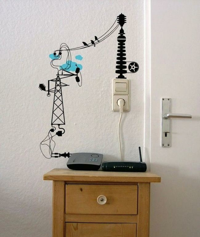 do it yourself deco wall decor electricity pylons