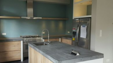 Photo of The stable kitchen equipment: concrete worktop