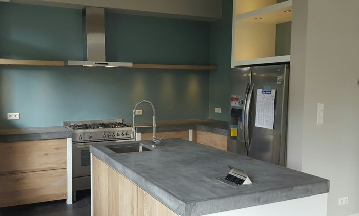 Concrete design countertop